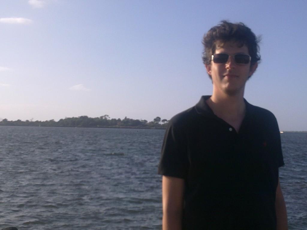 Io e l'isola di Mothia dietro di me